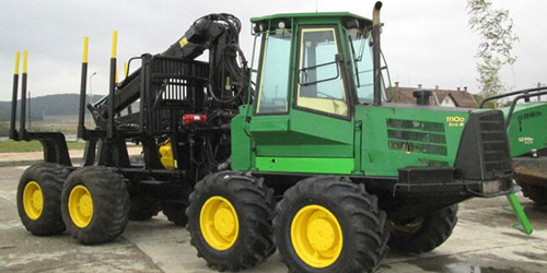 Forwarder John Deere 1110D - New entry